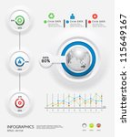 infographics set and... | Shutterstock .eps vector #115649167
