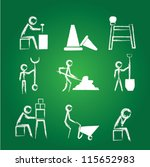 engineers icon set drawing... | Shutterstock .eps vector #115652983