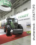 Small photo of MOSCOW- OCTOBER 11:Tractor FENDT 936 American the brand of AGCO at the international exhibition AGROSALON on October 11,2012 in Moscow