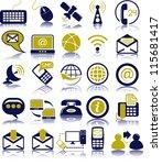 set of twenty five... | Shutterstock .eps vector #115681417