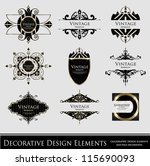calligraphic design elements... | Shutterstock .eps vector #115690093