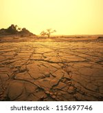 dry landscape - stock photo
