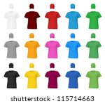 plain t shirt template. | Shutterstock .eps vector #115714663