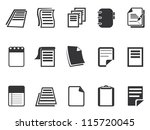 Documents icons set - stock vector