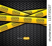 under construction caution tape ... | Shutterstock .eps vector #115735237