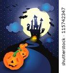halloween background with... | Shutterstock .eps vector #115742347