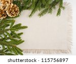 christmas frame with conifer ... | Shutterstock . vector #115756897