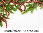 christmas frame with conifer...   Shutterstock . vector #115756903