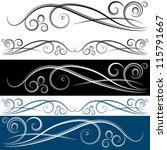 An Image Of A Swirl Banner Set.