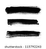 black abstract hand painted... | Shutterstock . vector #115792243