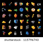 icons for entertainment ... | Shutterstock . vector #115796743