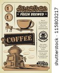 retro banner on the coffee theme | Shutterstock .eps vector #115803217