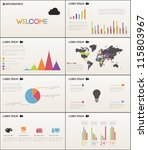 set elements of infographics | Shutterstock .eps vector #115803967