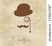 vintage gentleman portrait | Shutterstock .eps vector #115811587