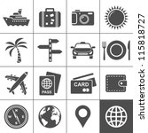 travel and tourism icon set....