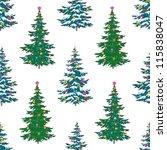 seamless background  christmas...   Shutterstock .eps vector #115838047