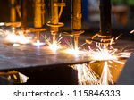 cnc lpg cutting with sparks... | Shutterstock . vector #115846333