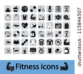 professional fitness icons for... | Shutterstock .eps vector #115846507