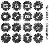 website navigation icons on...