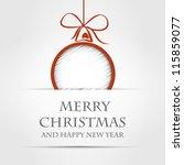 christmas ball. christmas ball... | Shutterstock .eps vector #115859077
