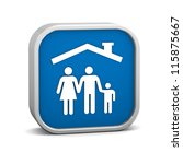 family insurance sign on a... | Shutterstock . vector #115875667