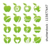 apple icons  symbols  signs and ... | Shutterstock .eps vector #115877647
