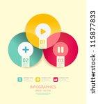 modern circle design soft color ... | Shutterstock .eps vector #115877833