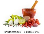 asian ingredients food with... | Shutterstock . vector #115883143