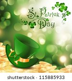 st.patrick holiday theme with...   Shutterstock .eps vector #115885933