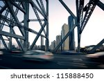 Brisbane city bridge - stock photo