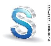3d glossy alphabet d letter...   Shutterstock .eps vector #115894393