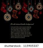 doodle textured christmas... | Shutterstock .eps vector #115905337