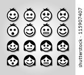 vector emotion icons. | Shutterstock .eps vector #115907407