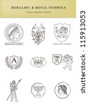 heraldic and royal symbols.... | Shutterstock .eps vector #115913053