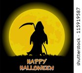 happy halloween background with ... | Shutterstock .eps vector #115919587