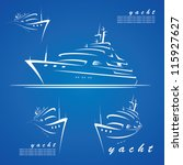 yacht labels   vector... | Shutterstock .eps vector #115927627