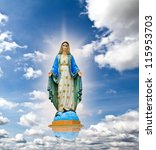 Virgin Mary Statue At The Sky...