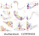 multicolour  musical notes...