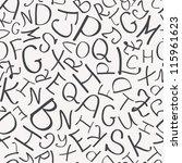 seamless letter pattern | Shutterstock .eps vector #115961623