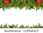 christmas background with balls ... | Shutterstock . vector #115964527