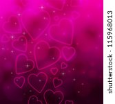 valentine's day background with ... | Shutterstock . vector #115968013