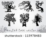 haunted tree vector set | Shutterstock .eps vector #115978483