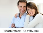 portrait of married couple at... | Shutterstock . vector #115987603