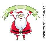 santa claus with ribbon vector... | Shutterstock .eps vector #115989127