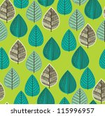 foliage pattern design. vector... | Shutterstock .eps vector #115996957