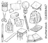 school doodle vector set | Shutterstock .eps vector #116006467
