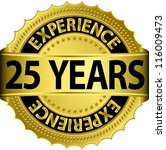 25 Years Experience Golden...
