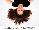 female with the upside down...   Shutterstock . vector #116021617