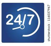 24 7 signage  24 hr | Shutterstock .eps vector #116037967