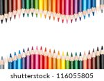 pencils isolated on white background - stock photo